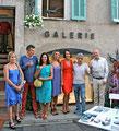 Les artistes de la galerie Gabel, de gauche à droite; George, Thierry Pelletier, Martine Polisset, Anne Arnaud, Valérie Gaidoz, Philippe Berry, Patrick Moya