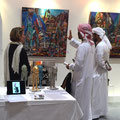 World Art Dubaï- (Dubaï artfair) French Gallery-Painting on aluminium casing MASAYA- BIOT-FRANCE-
