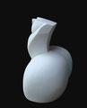 Thierry Pelletier expo à Biot-sculpture en marbre de Carrare-pièce unique-