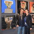 Le stand de la galerie Gabel à Art Up Lille avec Lyle Carbajal