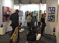 Le stand de la galerie Gabel à St'Art Strasbourg avec Philippe Berry (bronze), Lyle Carbajal (peintures)