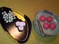 3/3 主菓子は西王母。黄身餡が美味しい