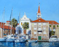 Milna, Croatia.  Sold at Painters Fine Art Society exhibition, London