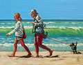 Summer strolling - Oil, 8 x 10 inches (20 x 25 cm).  Private client.