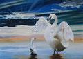 Première leçon de vol                huile sur toile   116*81    2011