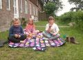 und Picknick vor der Haustür