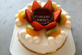 バースデーケーキ(フルーツsimple)