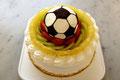 バースデーケーキ(フルーツdeluxe) 特注:サッカーボール