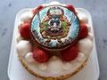 バースデー(いちごsimple) 特注:キャラクターイラストクッキー