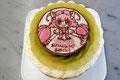 バースデーケーキ(フルーツdeluxe) 特注:キャラクターイラストクッキー