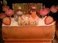 ひなまつりケーキ(ロールケーキ)