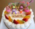 ひなまつりケーキ(フルーツsimple)