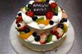 バースデーケーキ(フルーツdeluxe) 特注:2段仕上げ