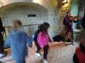On finit en beauté! Visite en musique, Ingrid Sparbier, conférencière au château comtal de Carcassonne
