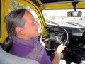Ingrid a conduit aussi une 2CV. Plus rien à voir avec les voitures actuelles.