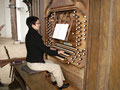 Mirjam Föllmi an der Riepp-Orgel in Ottobeuren