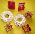 Villarceau Circles Toros 8 mit Wellen und Zacken (Scallop and Ziczac). Und Würfel (Cubus) als Weihnachtsgeschenk.