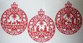 Das wird eine Kirigami Weihnachtskugel mit der heiligen Familie.