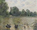 Camille Pissarro, Pièce d'eau à Kew
