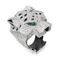 """Brillant-Farbstein-Ring 18K WG, """"Panthère"""" von Cartier"""