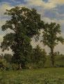 ROBERT ZÜND, Weide mit Eichbäumen