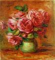 Pierre Auguste Renoir, Rosen in grüner Vase