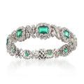 Smaragd-Brillant-Bracelet 18K WG CHF 13'200
