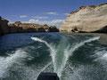 Fahrt mit dem Power Boat auf Lake Powell