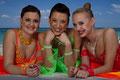 Anja, Claudia und Nicole
