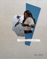 'Was ein junges Mädchen am Leben erhält', Collage, 24 x 30 cm, 2016