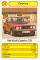 (0291) TOP ASS Cabrios - Nr. 3059/5 - D2 - Golf 1 Cabrio GTi (Spielkarte)