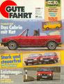 (0181) 05.1986 - Test: Golf I Cabriomit Katalysator - Seite 12-15. Caravans im Schlepp - Seite 50-55