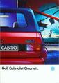 (0038) Golf Cabriolet Quartett. - August 1990 - 12 Seiten - 210 x 297 mm