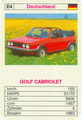(0293) TOP ASS SCHNELLE CABRIOS - Nr. 3216/4 - E4 - Golf 1 Cabrio (Spielkarte)