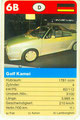 (0292) SUPER TRUMPF CABRIO - Nr. 50055.2 - 6B - Golf Kamei Cabrio (Spielkarte)