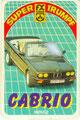 (0292) SUPER TRUMPF CABRIO - Nr. 50055.2 - 6B - Golf Kamei Cabrio (Deckblatt)