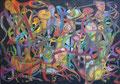 Network, 100 x 70 cm, Acryl