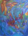Take flight, 80 x 100 cm, Acryl