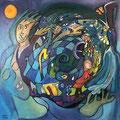 Dream Walking, 80 x 80 cm, Acryl