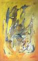 Key to the golden Sand, 70x100 cm, Acryl