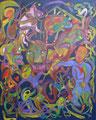 Mountain Farm, 80 x 100 cm, Acryl