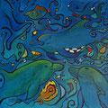 Dolphin, 60 x60 cm, Acryl