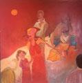 Lady in Red, 100 x 100 cm, Acryl   •   CHF 3 500.--