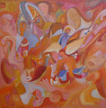 Whispers of the angels, 80x80 cm, Acryl • CHF 3 000.--