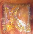 Back Stage, 100 x 100 cm, Acryl