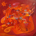 Whispers in the Wind, 70 x 70 cm, Acryl   •    CHF 2 900.--