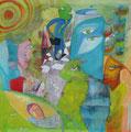 People Watching, 120 x 120 cm, Acryl   •    VERKAUFT