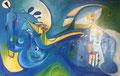 The Dreamer, 110 x 70 cm, Acryl