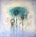 Mind Games, 70 x 70 cm, Acryl