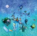 Kisses in the Wind, 120 x 120 cm, Acryl   •    VERKAUFT